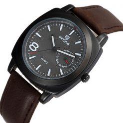 Skone Leather Wrist Watch - Brown