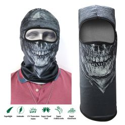 Skull Design Full Face Mask - Black