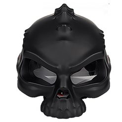 Skull Motorcycle Helmet - Black