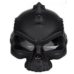 Skull Motorcycle Helmet - Black