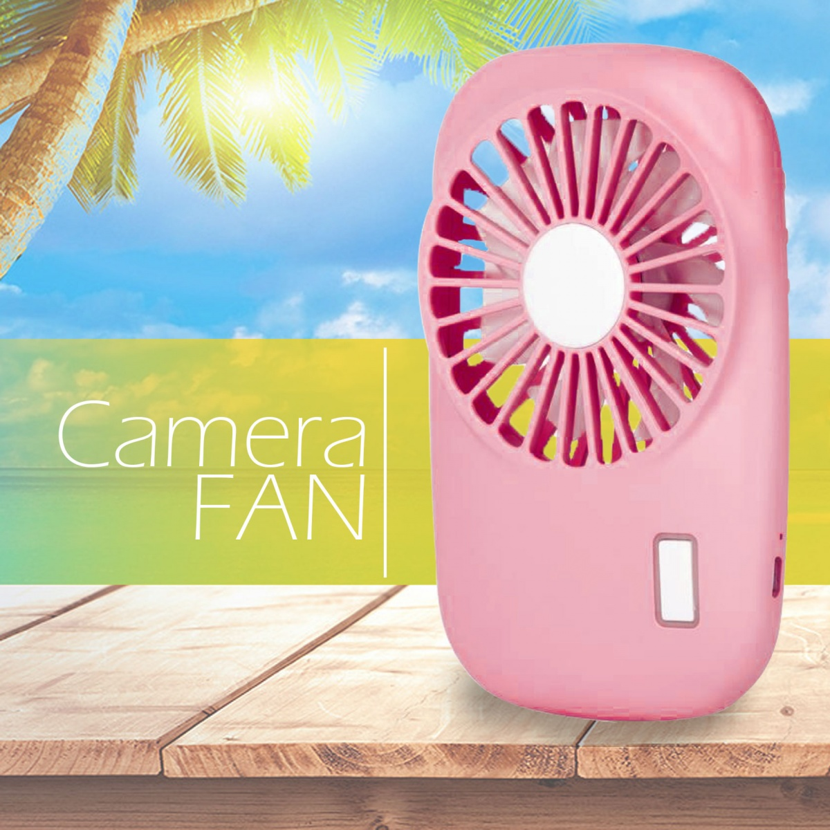 Handheld USB  Rechargeable Fan - Pink