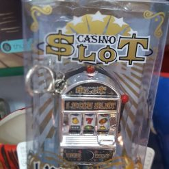 Slot Machine Keychain - Silver