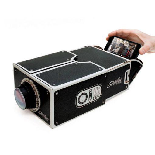 Smart Phone DIY Cardboard Type Projector - Black