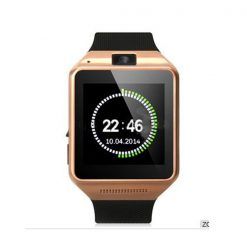 Smart Bluetooth Phone Watch with Camera - Gold