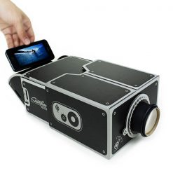 Smart Phone DIY Cardboard Type Projector - Black
