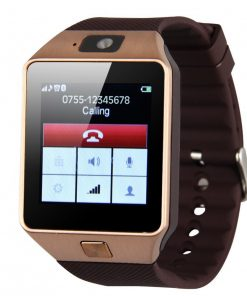Smart Watch Phone With Sim Card Slot - Brown