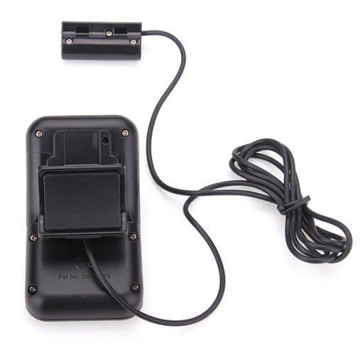 Solar Powered LCD Display Bicycle Pedometer - Black