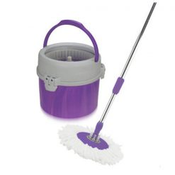 Spin Mop with Single Bucket - Purple