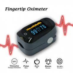 Spo2 Oxygen Meter Fingertip Pulse Oximeter With Graph - Gray