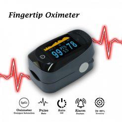 Spo2 Oxygen Meter Fingertip Pulse Oximeter With Graph - Gray