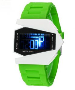 Sports Watch LED Stealth Aircraft with Silicone Strap - Green