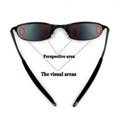 Spy Sunglass With Rear View - Black