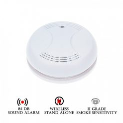 Stand Alone Wireless Smoke Detector - White