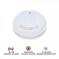 Stand Alone Wireless Smoke Detector - White