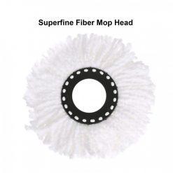 Superfine Fiber Rotating Universal Mop Head Replacement - Black