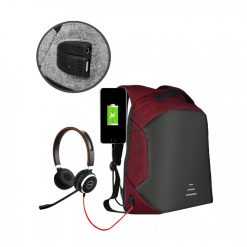 Sweet Tourist Anti Theft Backpack With Powerbank USB Output - Red