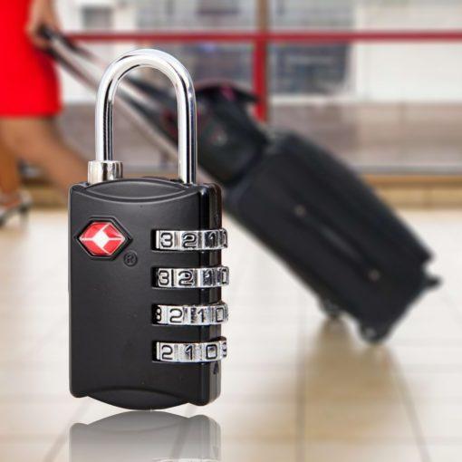 TSA309  4 Digit Lock  - Black