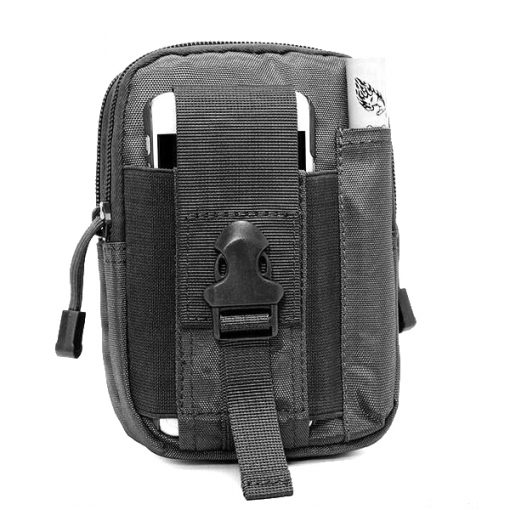 Tactical Military Outdoor Molle Waist Bag Utility Pouch - Black