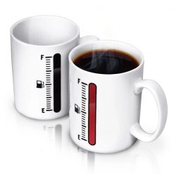 Tank Up Heat Sensitive Coffee Mug