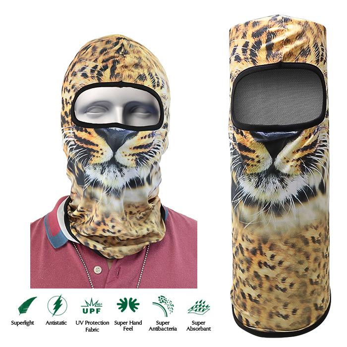Tiger Face Design Full Face Mask - Orange - LatestGadget