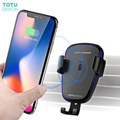 Totu Design CACW05 Wireless Fast Charge Car Mount- Black