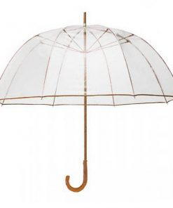 Transparent Dome Umbrella - Brown