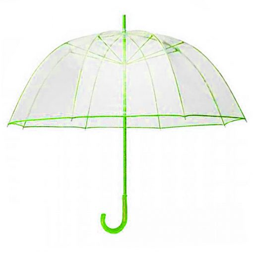 Transparent Dome Umbrella - Green