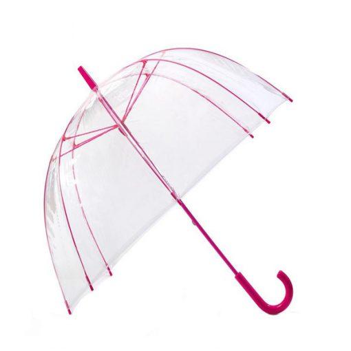 Transparent Dome Umbrella - Pink