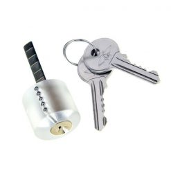 Transparent Practice Lock Pick With 2 Keys - Transparent