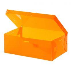 Transparent Shoe Box 28.5 x 10 x 18.5 cm - Orange