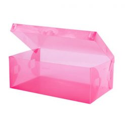 Transparent Shoe Box 28.5 x 10 x 18.5 cm - Pink