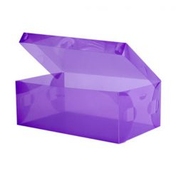 Transparent Shoe Box 28.5 x 10 x 18.5 cm - Purple