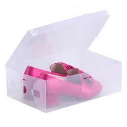 Transparent Shoe Box 28.5 x 10 x 18.5 cm - White