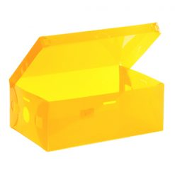Transparent Shoe Box 28.5 x 10 x 18.5 cm - Yellow