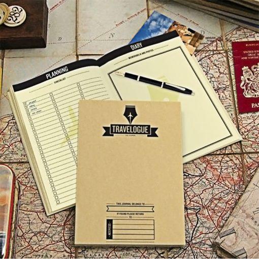 Travelogue Scratch Map Travel Journal Bucket List - Brown