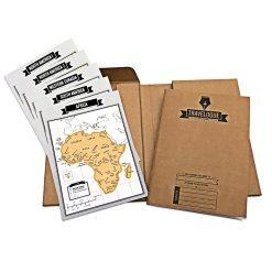 Travelogue Scratch Map Travel Journal Bucket List - Brown