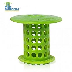 TubShroom Tub Drain Protector Hair Catcher Strainer - Green