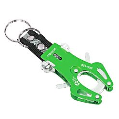 Tuff Durable Metal Hiking Clip - Green