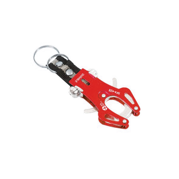 Tuff Durable Metal Hiking Clip - Red