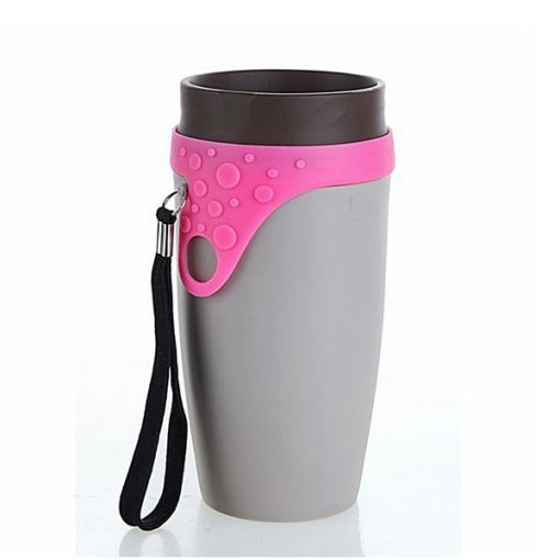 Twizz Twisted Mug 350ml Travel Fashion Magic Spin Cup - Gray