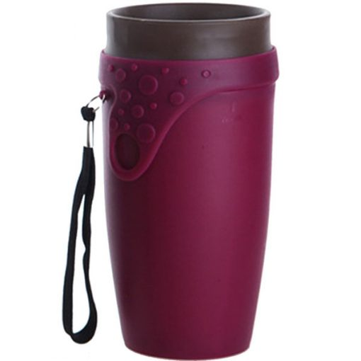 Twizz Twisted Mug 350ml Travel Fashion Magic Spin Cup - Red