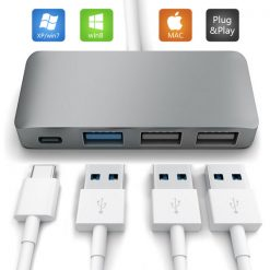 Type-C to USB 3.1 3 port USB Hub - Gray