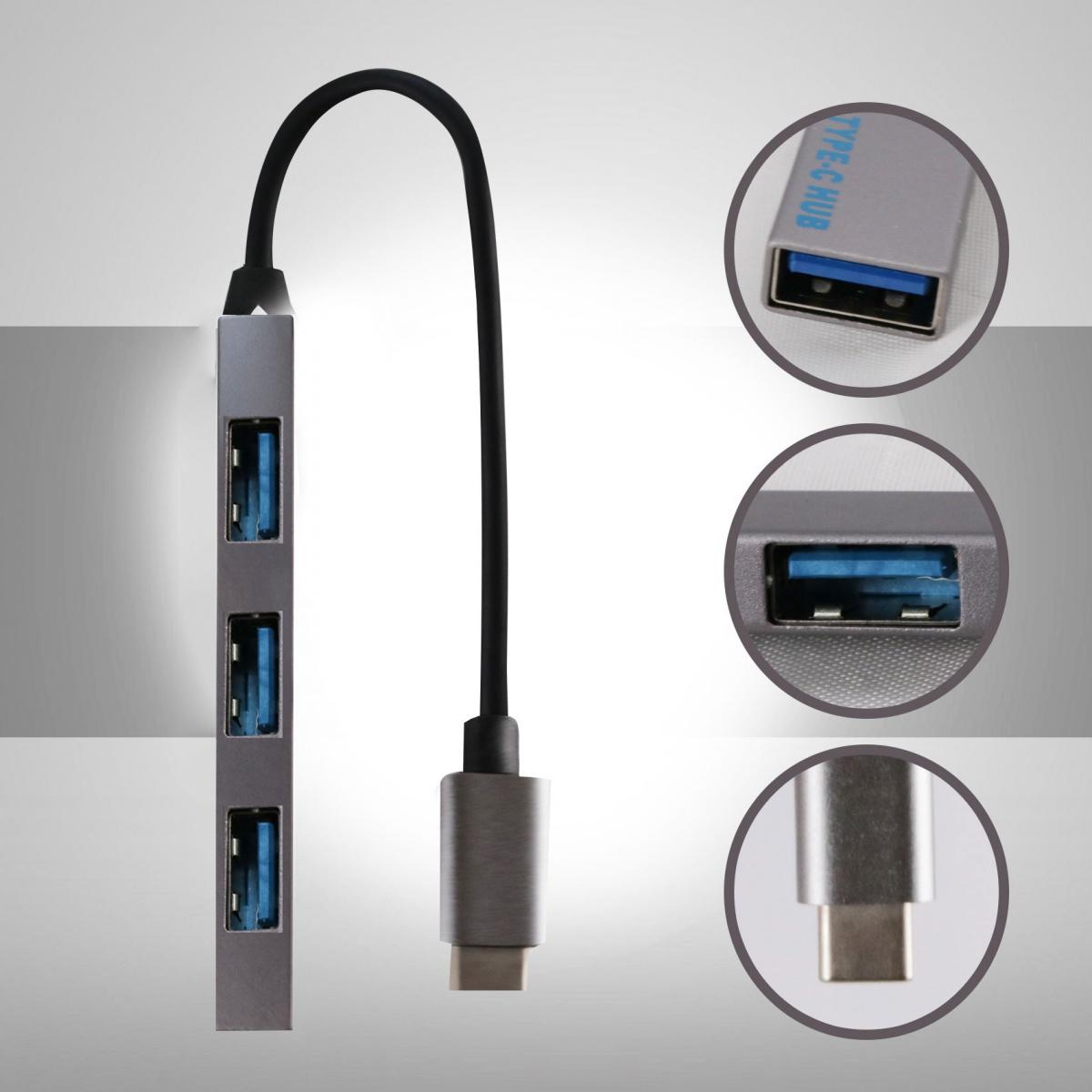 Type-C to USB Hub-White