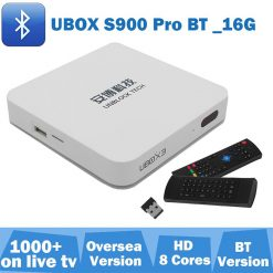 Unblock Tech 16GB Gen3 S900 Pro UBox IIl Global Version TV Box Media - White