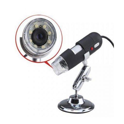 USB Digital Microscope 20X to 500X Magnification - Black