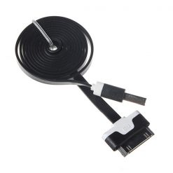 USB Data Charger Cable For iPad /iPhone /iPod  - Black/White
