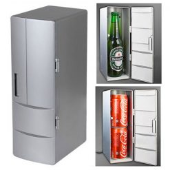 USB Powered Mini Fridge - Silver