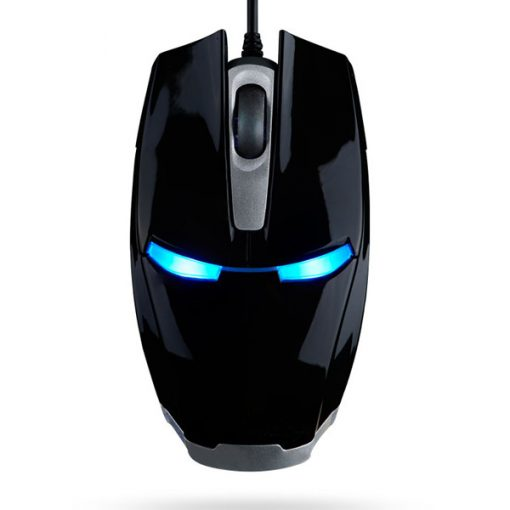 USB Optical Game Mouse Iron Man - Black