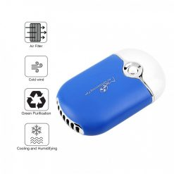 USB Rechargeable Handheld Mini Air Conditioning Fan - Blue