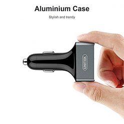 Unitek 42 Watts QC3.0 3 Port USB Quick Charge Aluminum Smart Car Charger - Silver